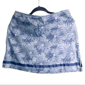 Bamboo Traders purple floral skort cotton Made USA